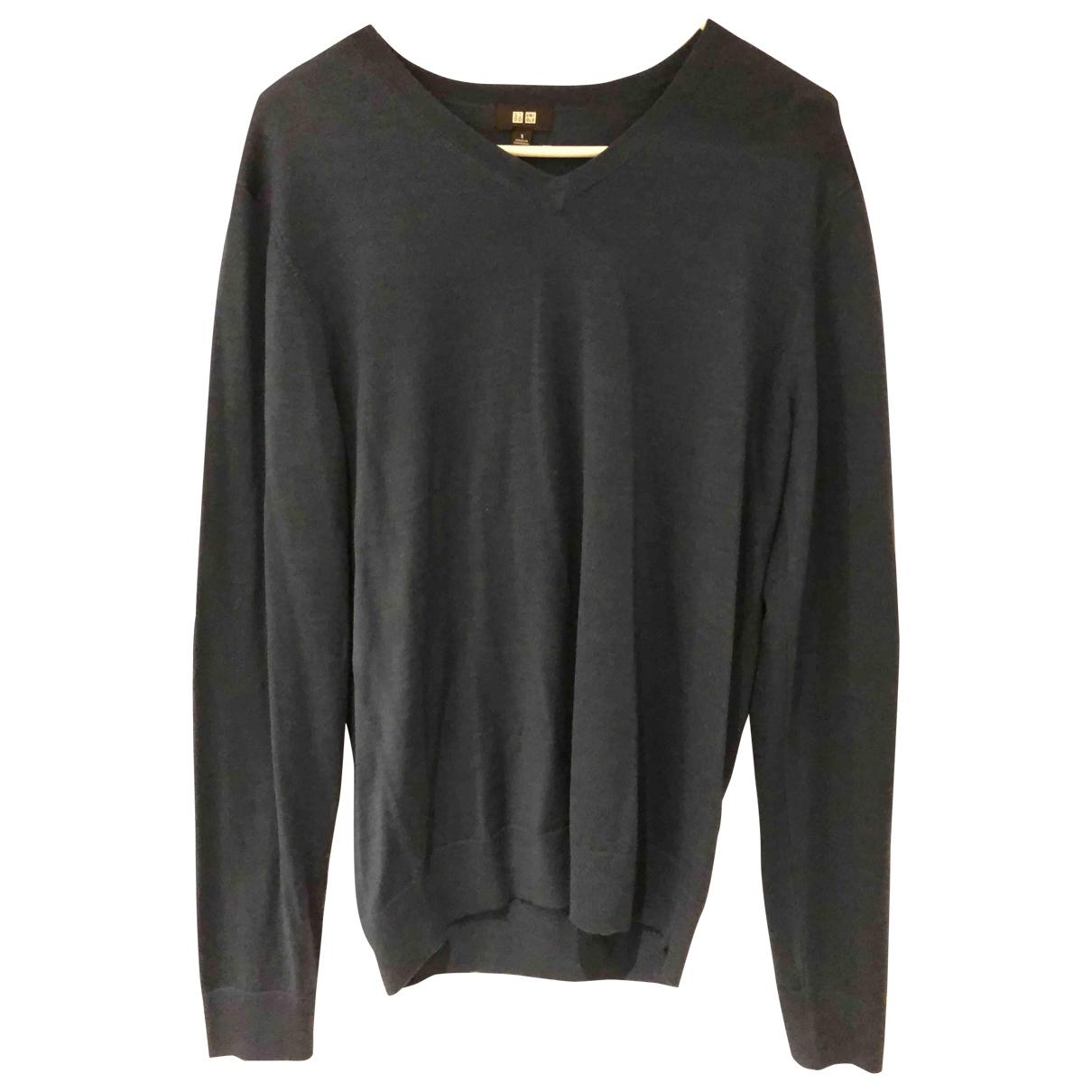 Uniqlo \N Pullover.Westen.Sweatshirts  in  Blau Wolle