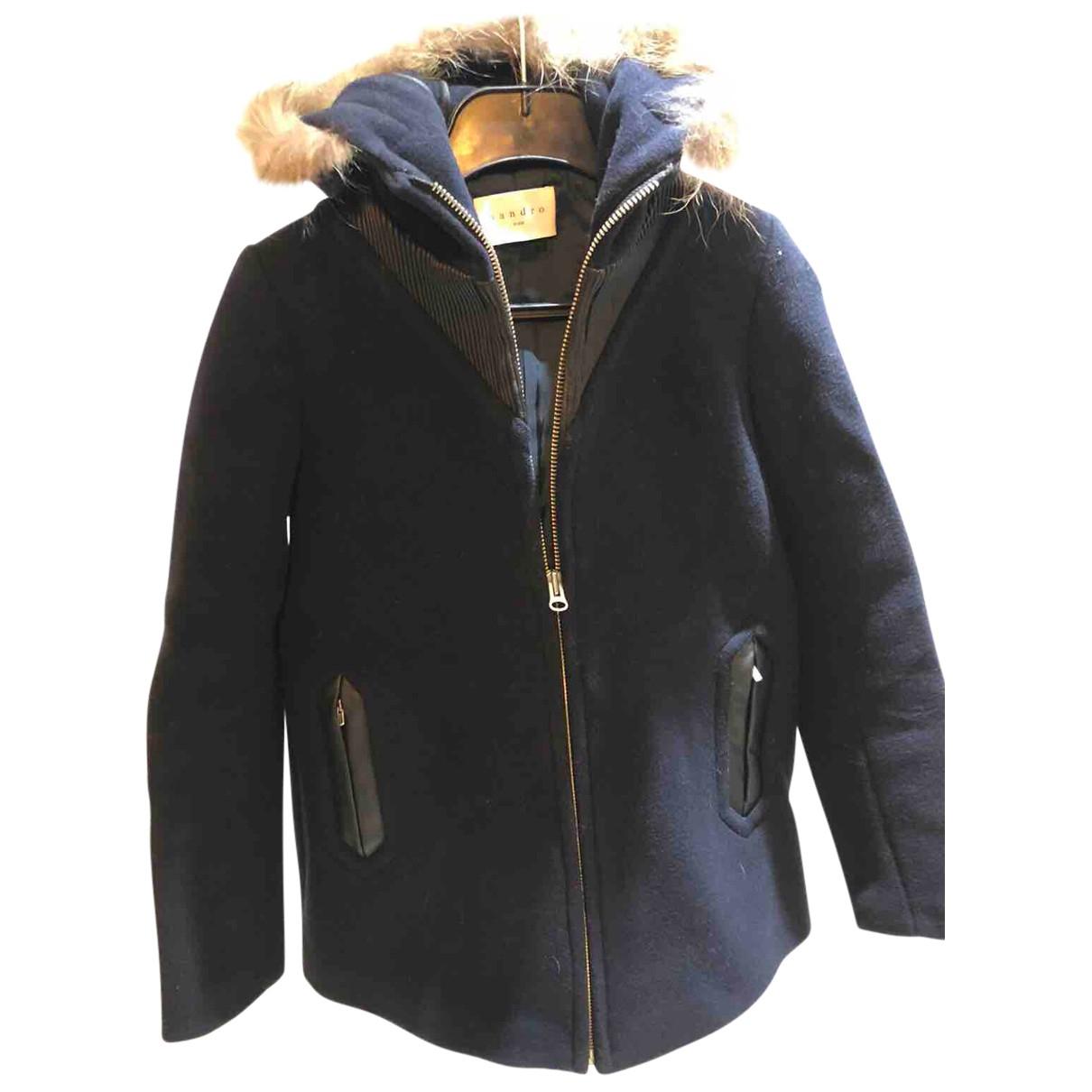 Sandro - Manteau Fall Winter 2019 pour femme en laine - noir