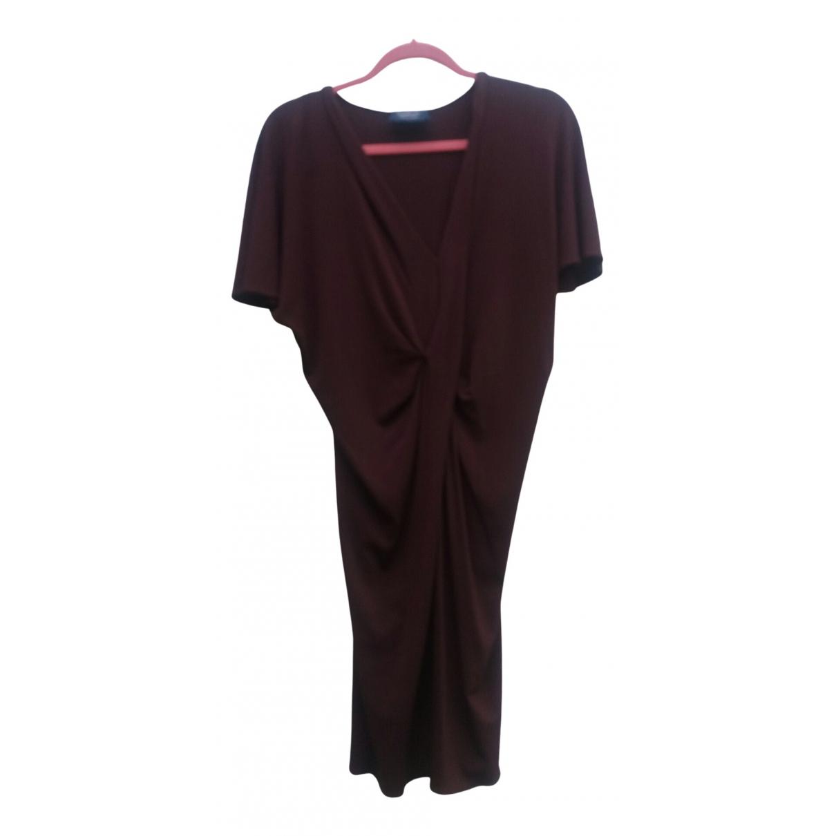 Lanvin \N Kleid in  Braun Viskose