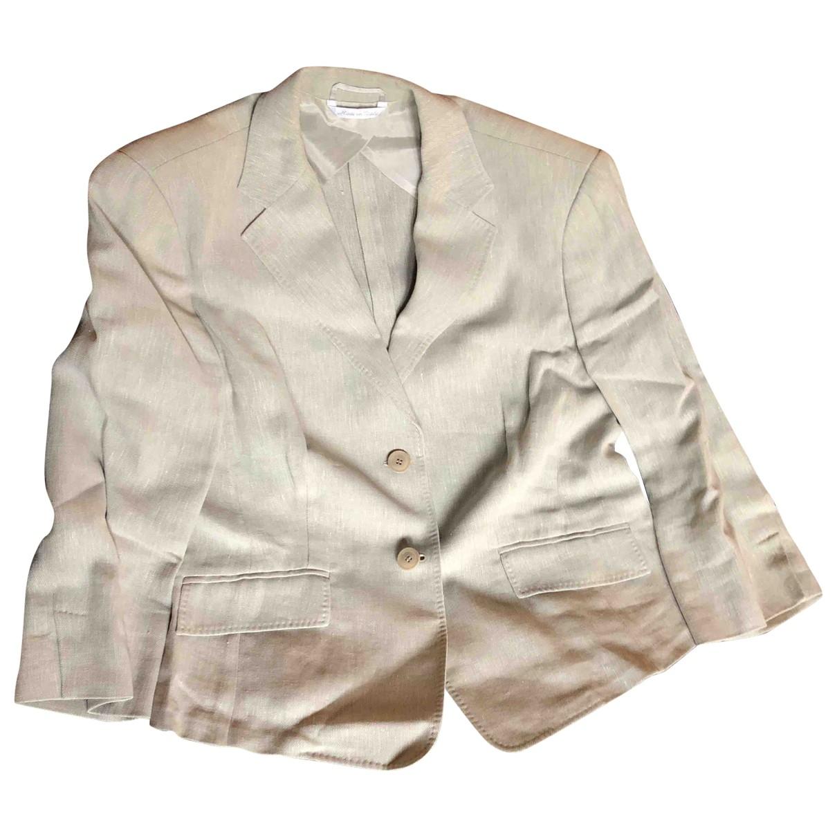 Max Mara - Veste   pour femme en lin - beige