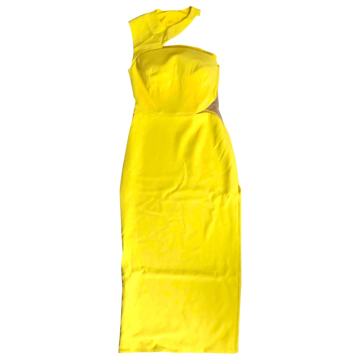 Versace \N Yellow Silk dress for Women 42 IT
