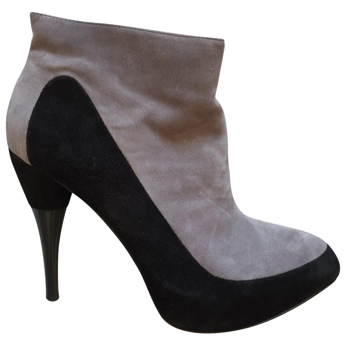Calvin Klein - Boots   pour femme en suede - gris