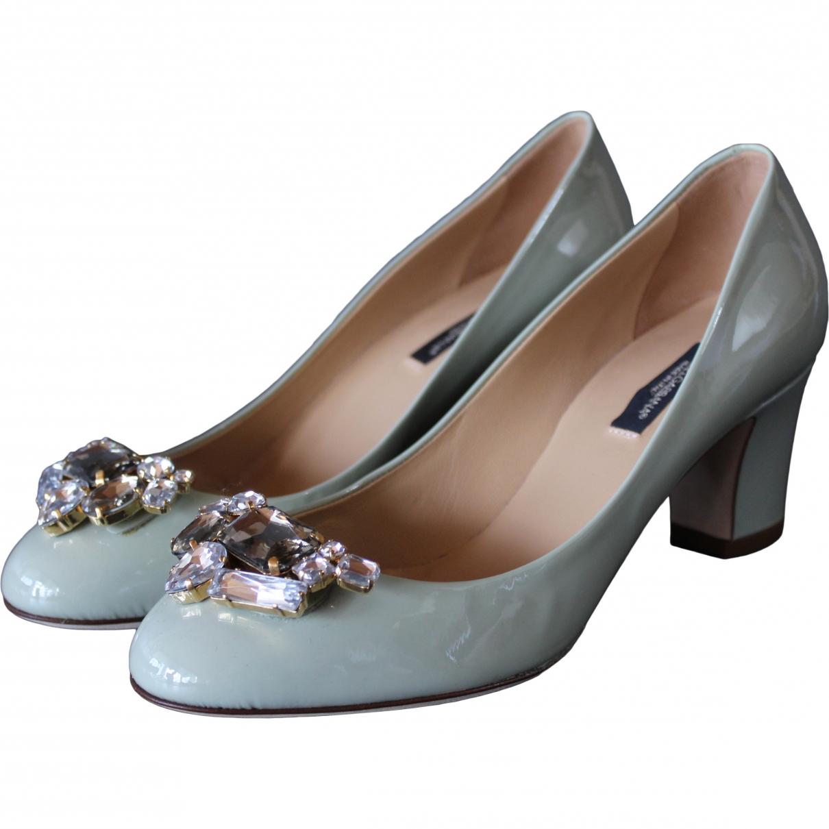 Dolce & Gabbana - Escarpins   pour femme en cuir - vert