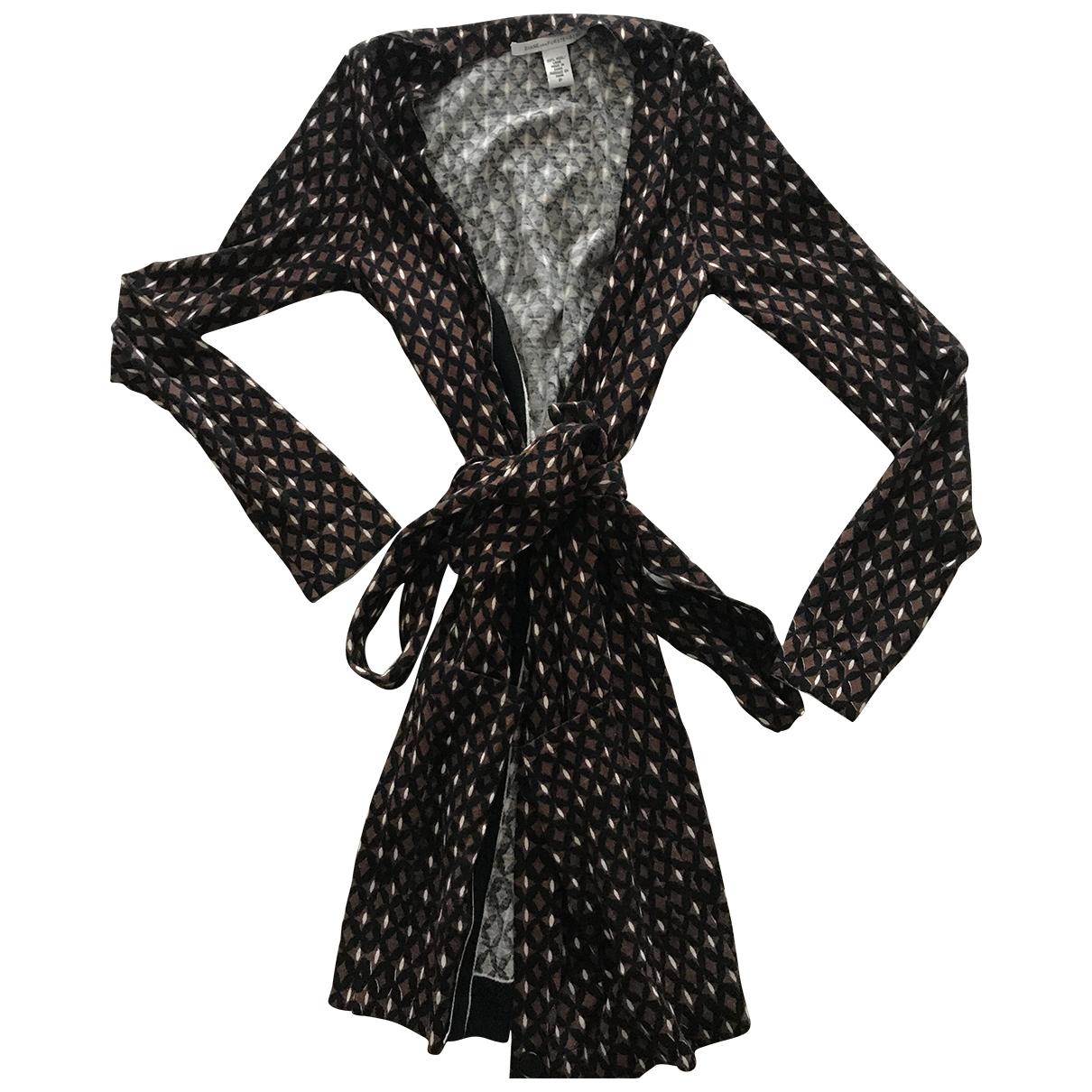 Diane Von Furstenberg - Robe   pour femme en laine - marron