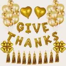 37 piezas set globo decorativo de dia de Gracias