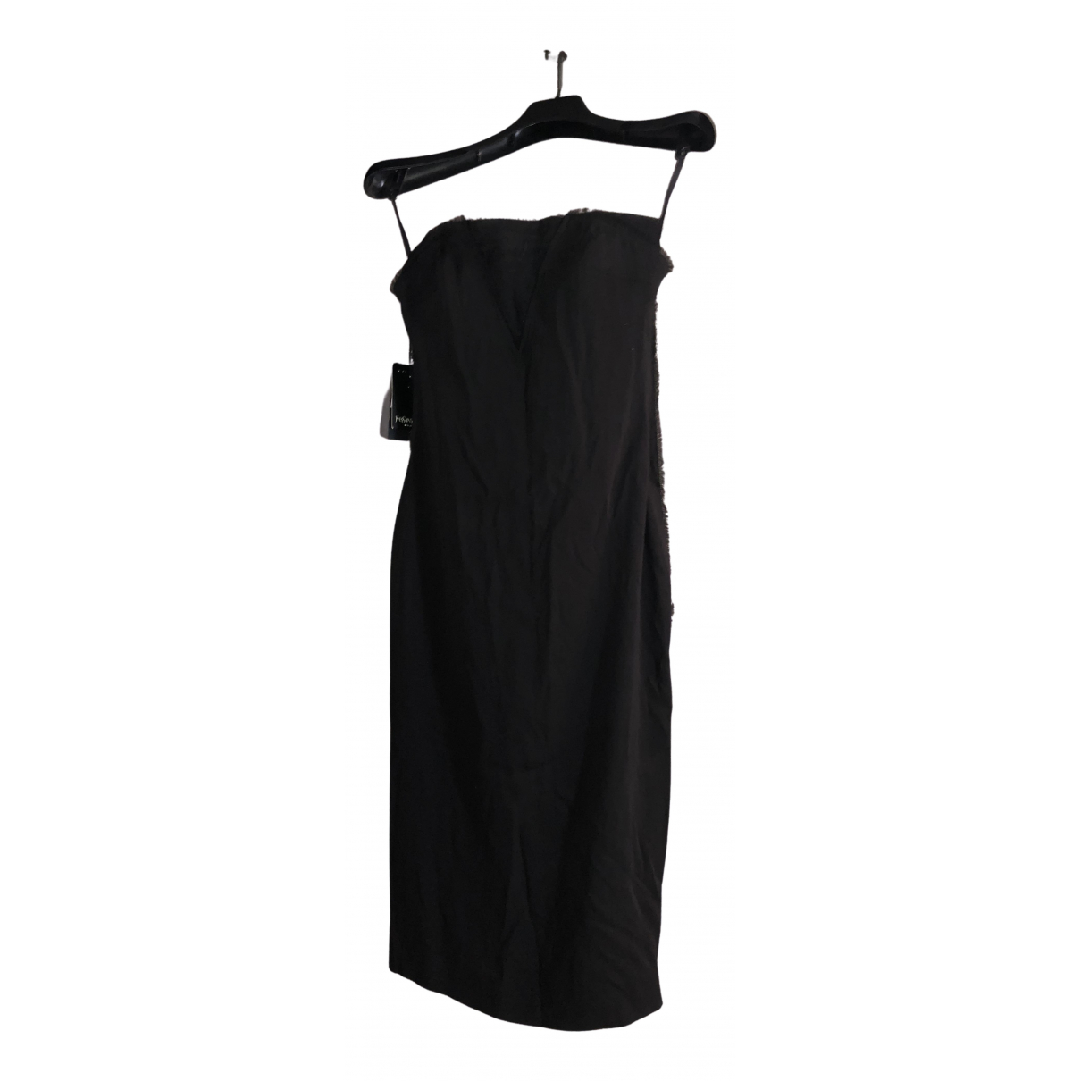 Yves Saint Laurent \N Kleid in  Schwarz Seide
