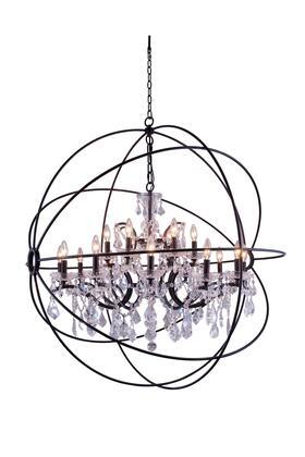 1130G43DB/RC 1130 Geneva Collection Pendent Lamp D:43.5 H:46 Lt:18 Dark Bronze Finish (Royal Cut