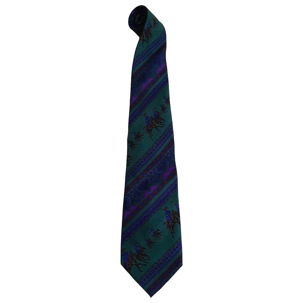 Yves Saint Laurent \N Green Silk Ties for Men \N