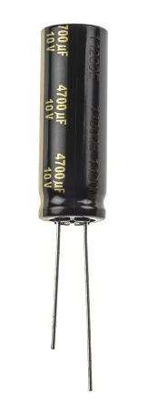 Panasonic 4700μF Electrolytic Capacitor 10V dc, Through Hole - EEUFM1A472L (5)