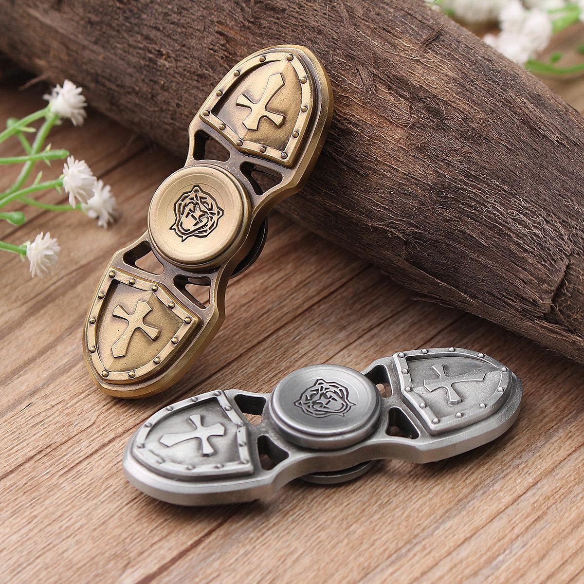 Crusader EDC Hand Fidget Spinner Titanium Alloy Finger Gyroscope Focus Toy Gift