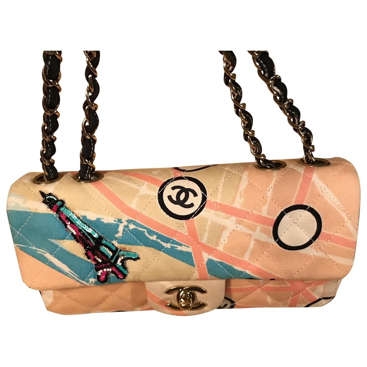 Chanel Timeless/Classique Beige Cloth handbag for Women \N