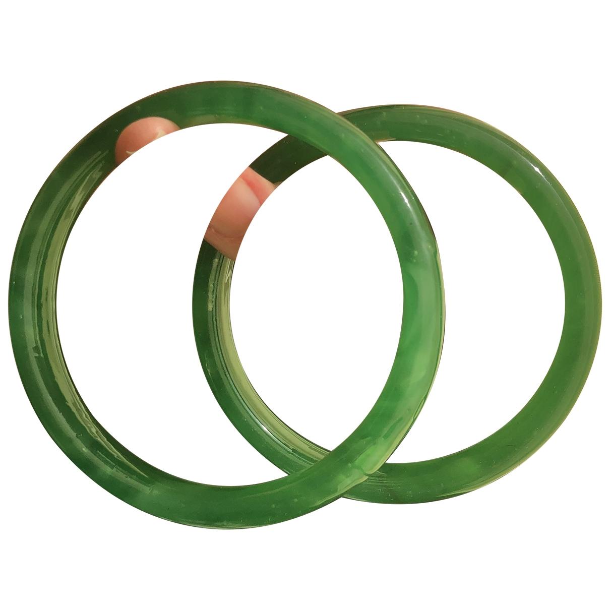 Non Signé / Unsigned \N Green Glass bracelet for Women \N
