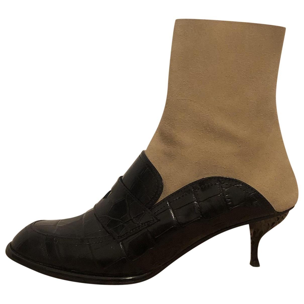 Loewe - Boots   pour femme en cuir - noir