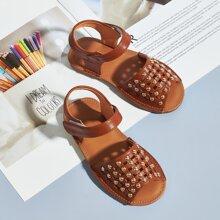Kleinkind Maedchen Sandalen mit Nieten Dekor