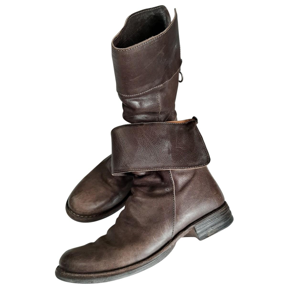 Fiorentini+baker - Boots   pour femme en cuir - marron