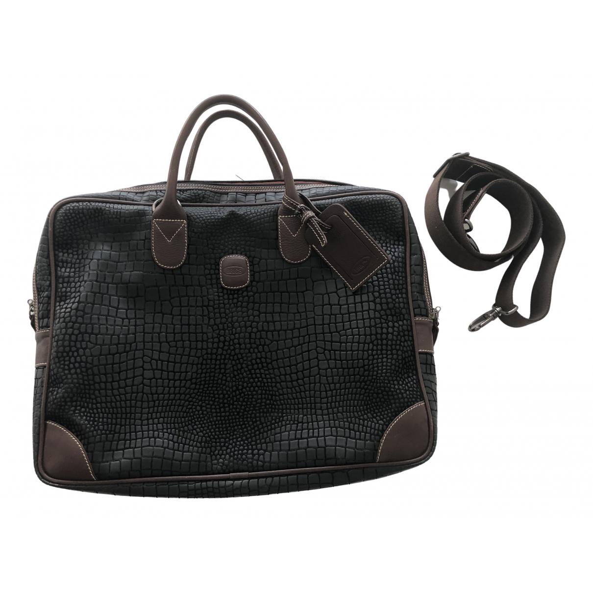 Brics - Sac de voyage   pour femme en cuir - noir