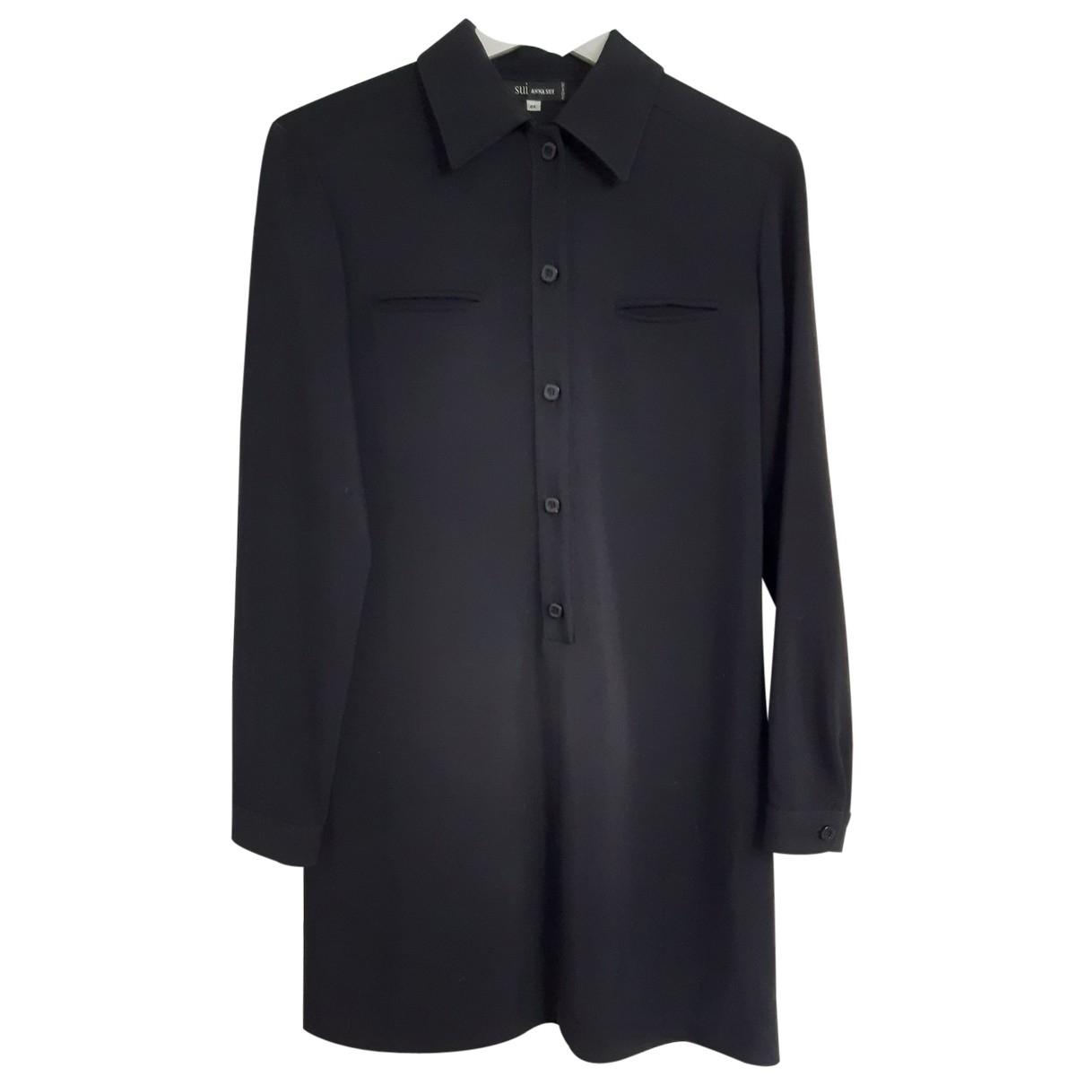 Anna Sui \N Kleid in  Schwarz Synthetik