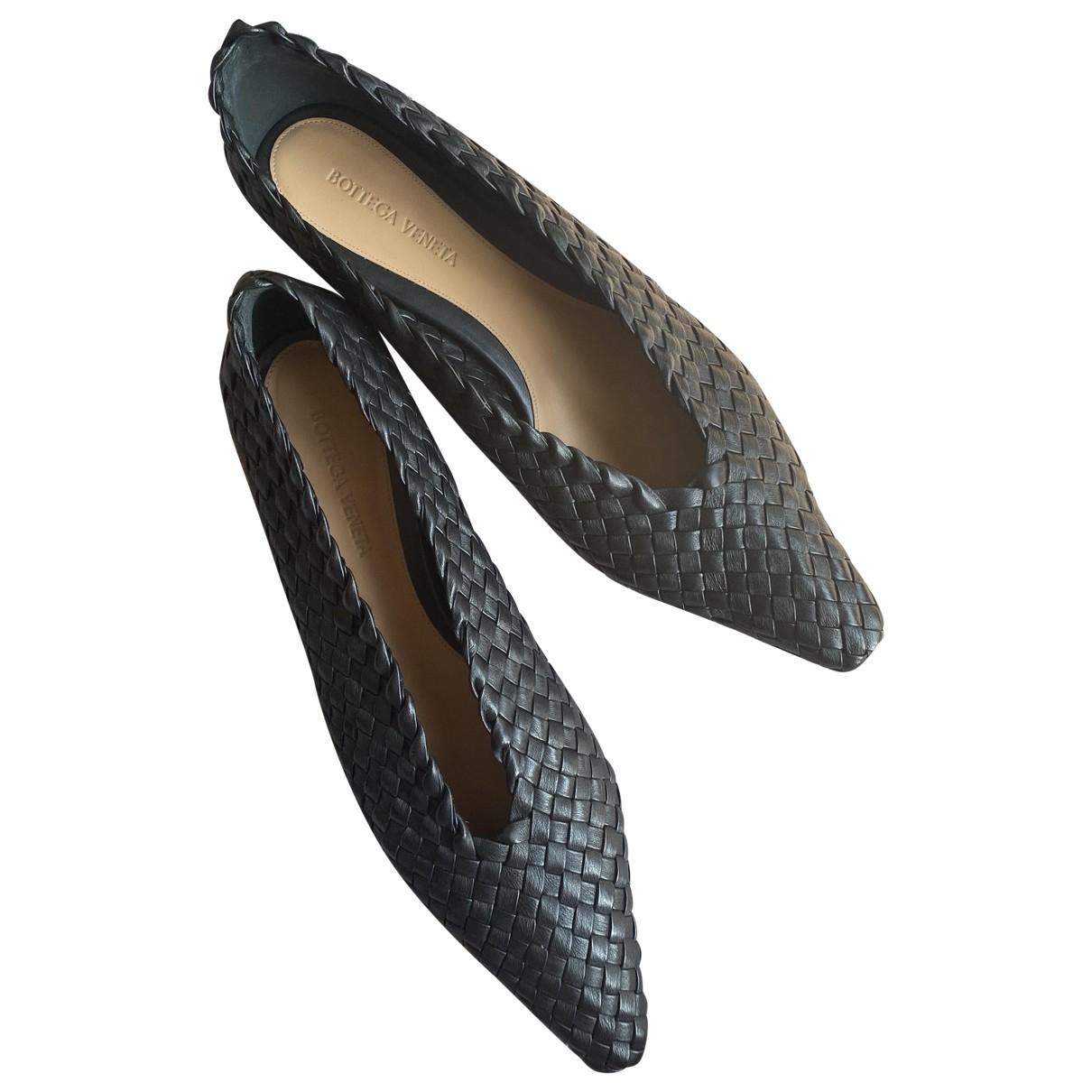 Bottega Veneta - Ballerines   pour femme en cuir - noir