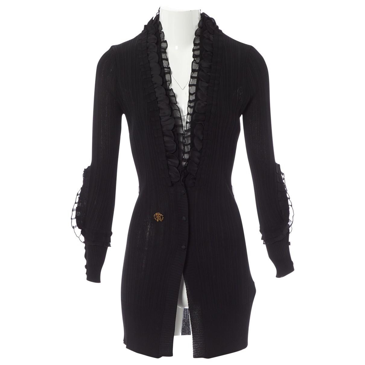 Roberto Cavalli \N Black Silk Knitwear for Women 44 IT