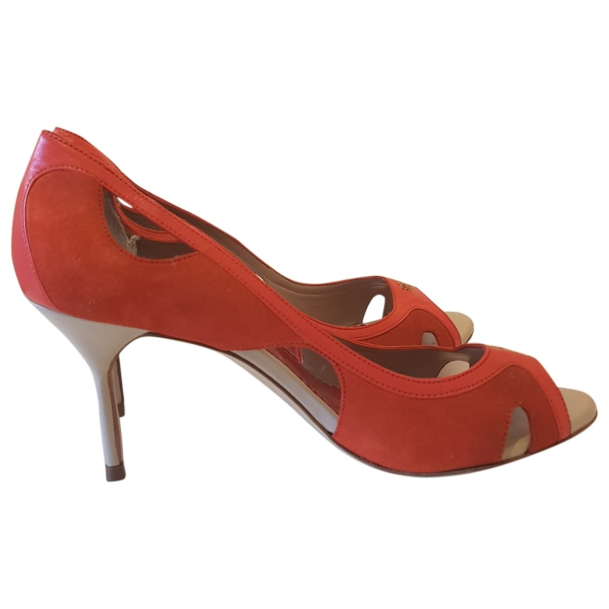 Carolina Herrera - Escarpins   pour femme en suede - rouge