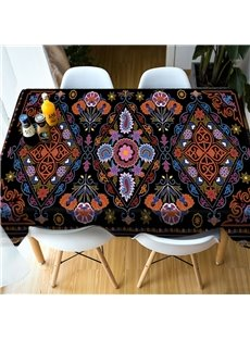 Surprise Party Kitchen Realistic Design Polyester 3D Tablecloth