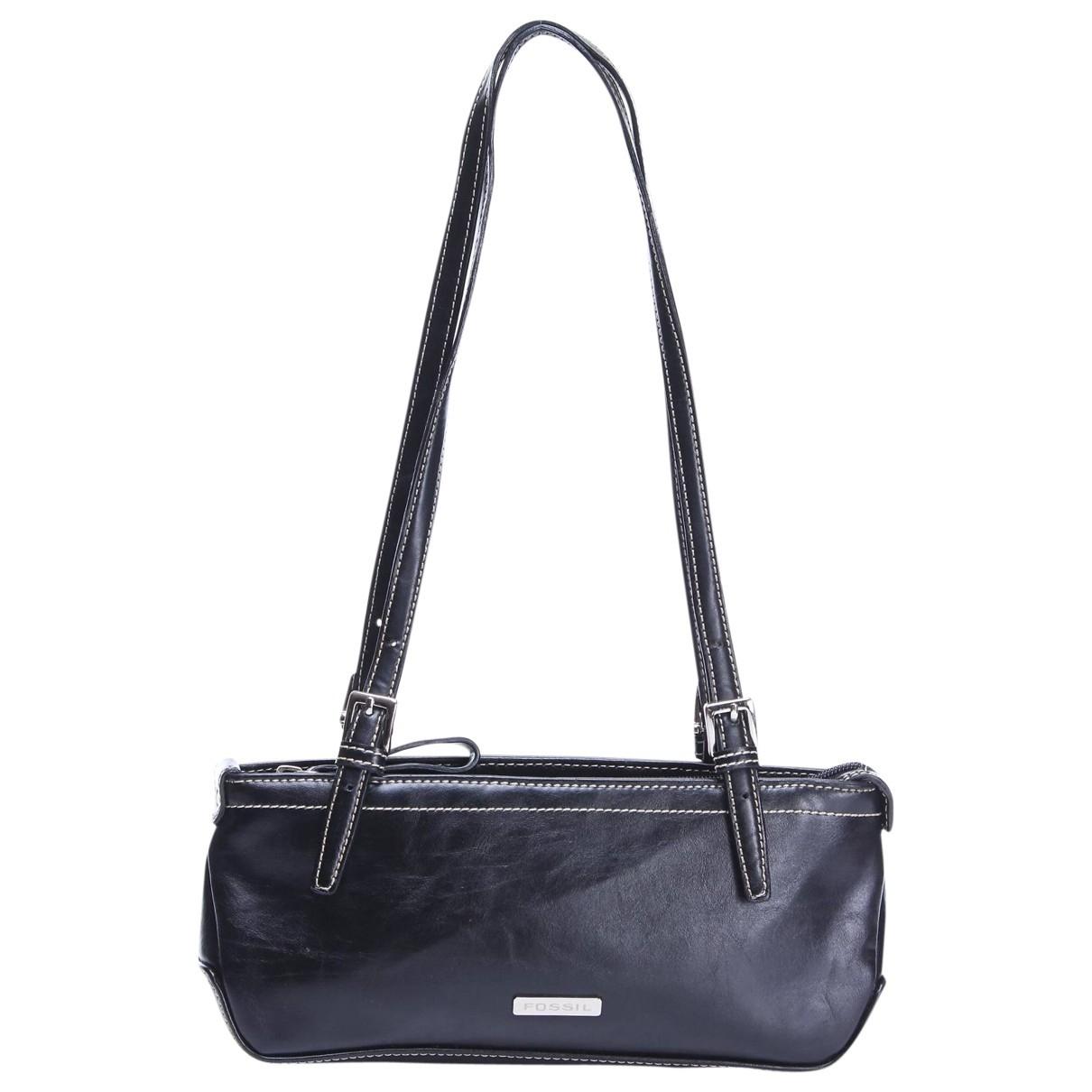 Fossil \N Handtasche in  Schwarz Leder