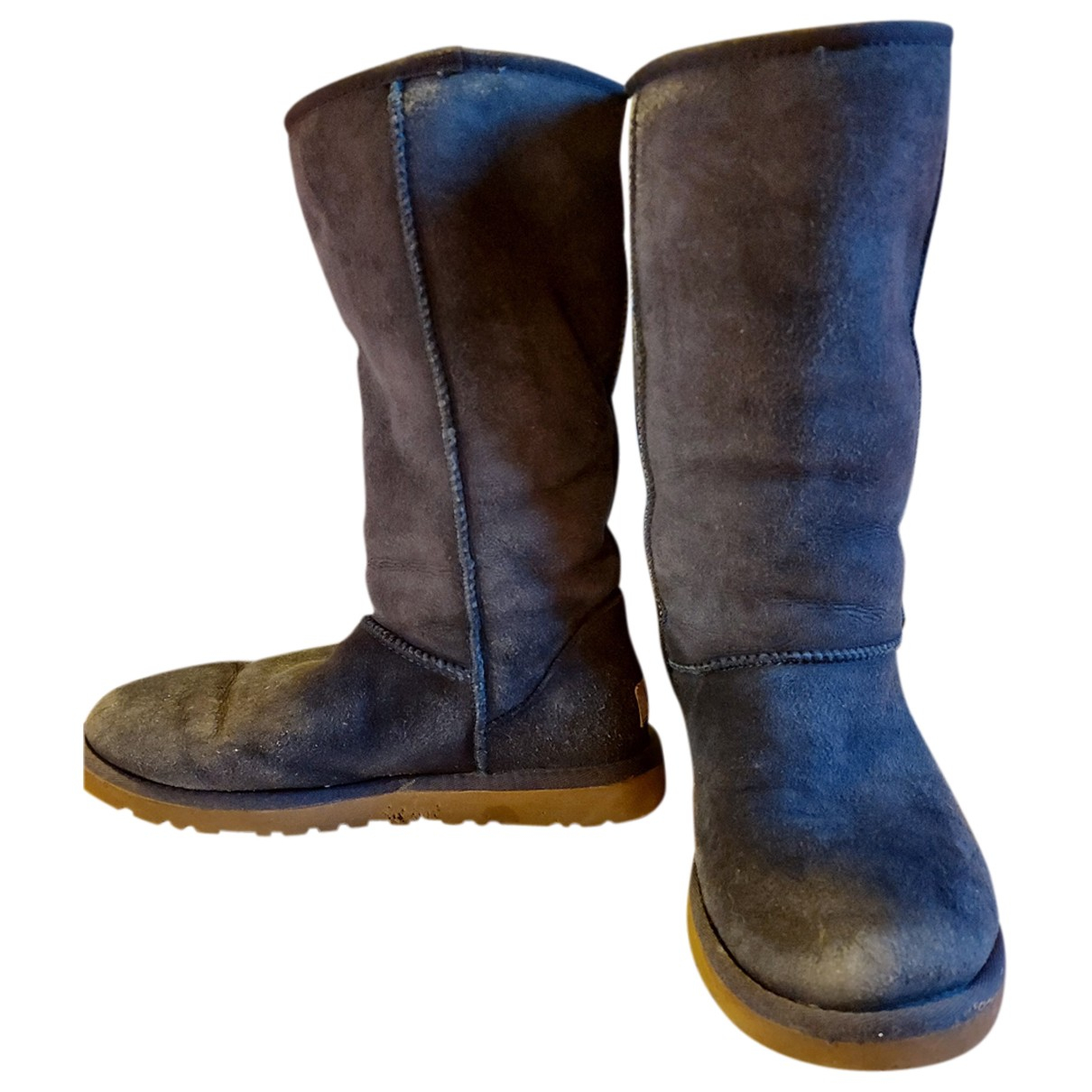Ugg N Blue Suede Boots for Women 37 EU
