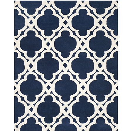 Safavieh Devereux Geometric Hand Tufted Wool Rug, One Size , Blue