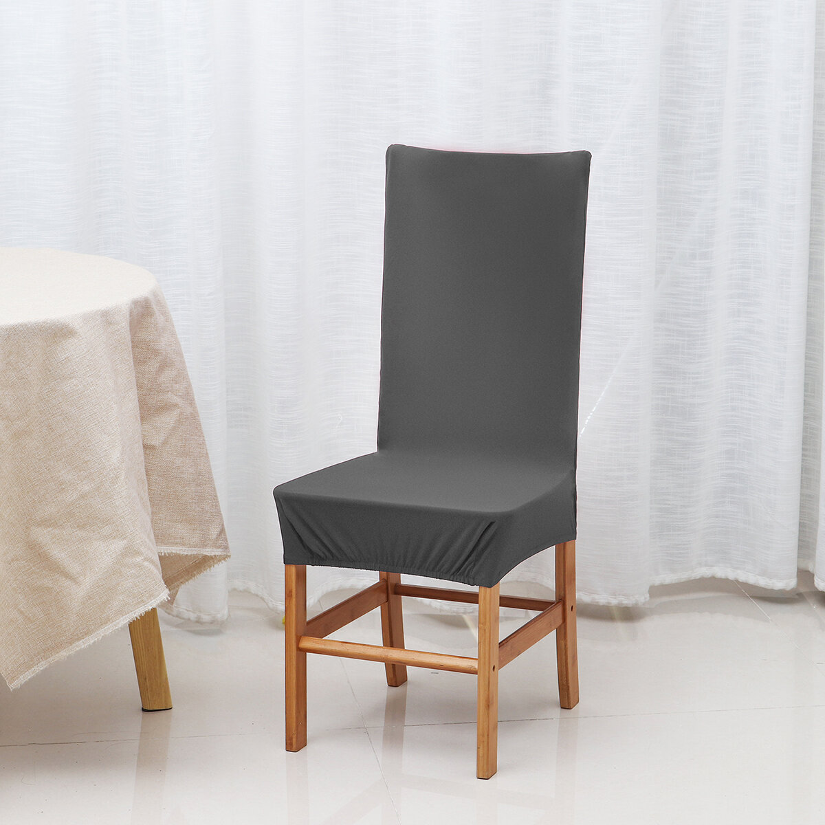Solid Color Chair Cover Spandex Stretch Elastic Slipcovers Chair Covers For Dining Room Kitchen Wedding Banquet Hotel