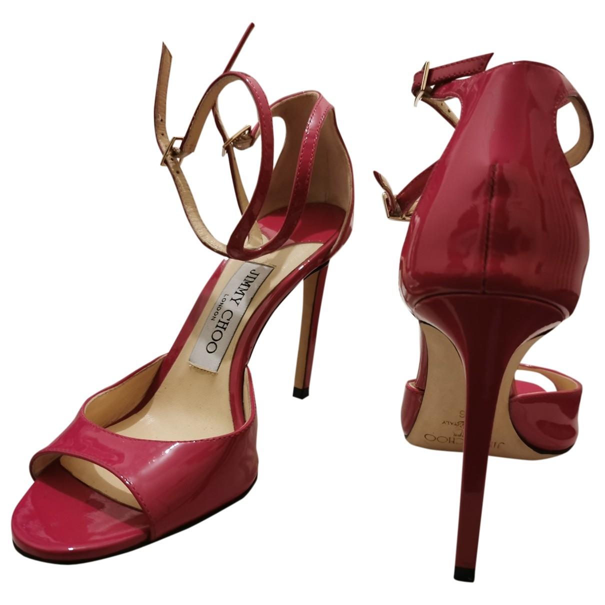Jimmy Choo \N Patent leather Sandals for Women 36 EU