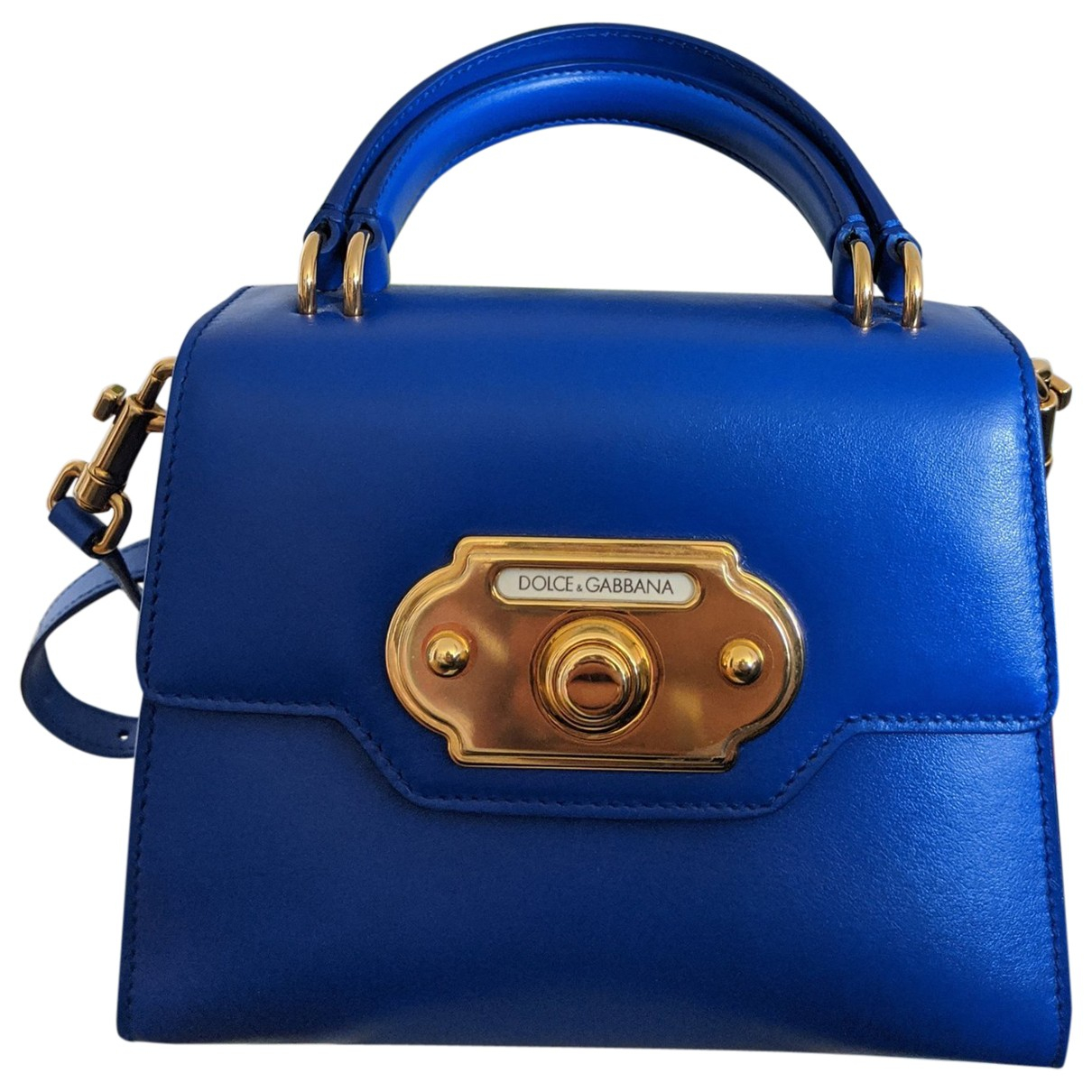 Dolce & Gabbana - Sac a main Welcome pour femme en cuir - bleu