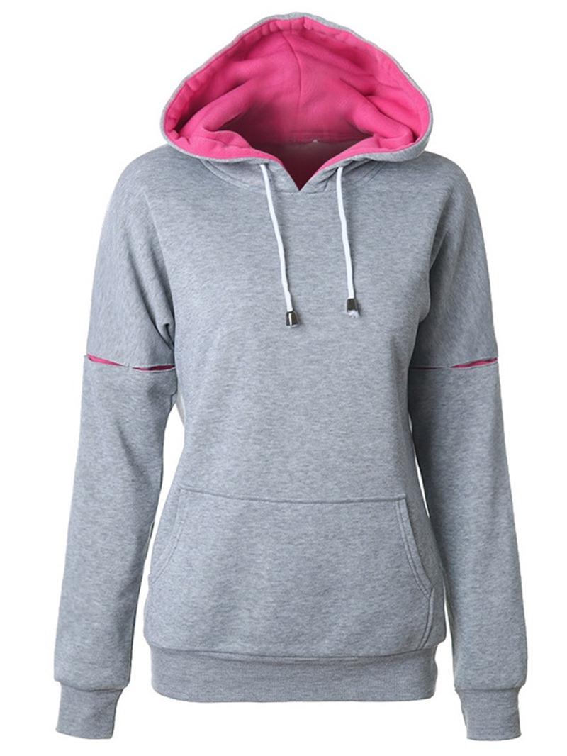 Ericdress Lace-Up Standard Winter Hoodie