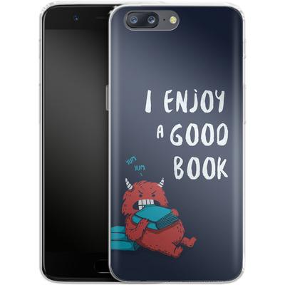 OnePlus 5 Silikon Handyhuelle - Good Book von Little Clyde