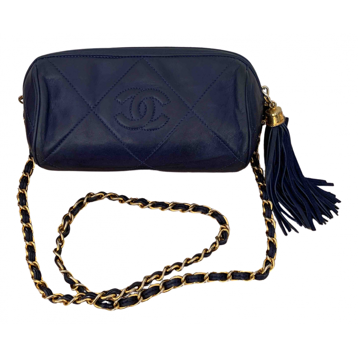 Chanel N Navy Leather Clutch bag for Women N