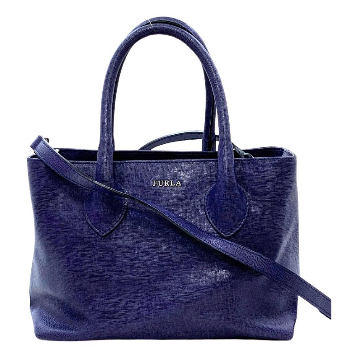 Furla \N Navy Leather handbag for Women \N