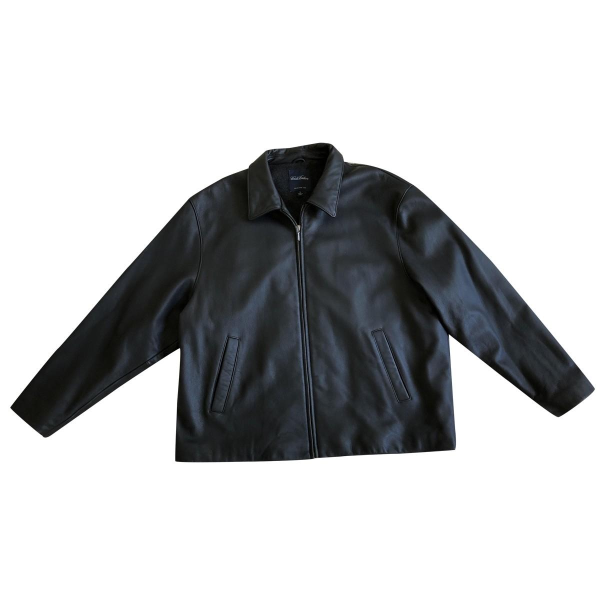 Brooks Brothers - Manteau   pour homme en cuir - marron