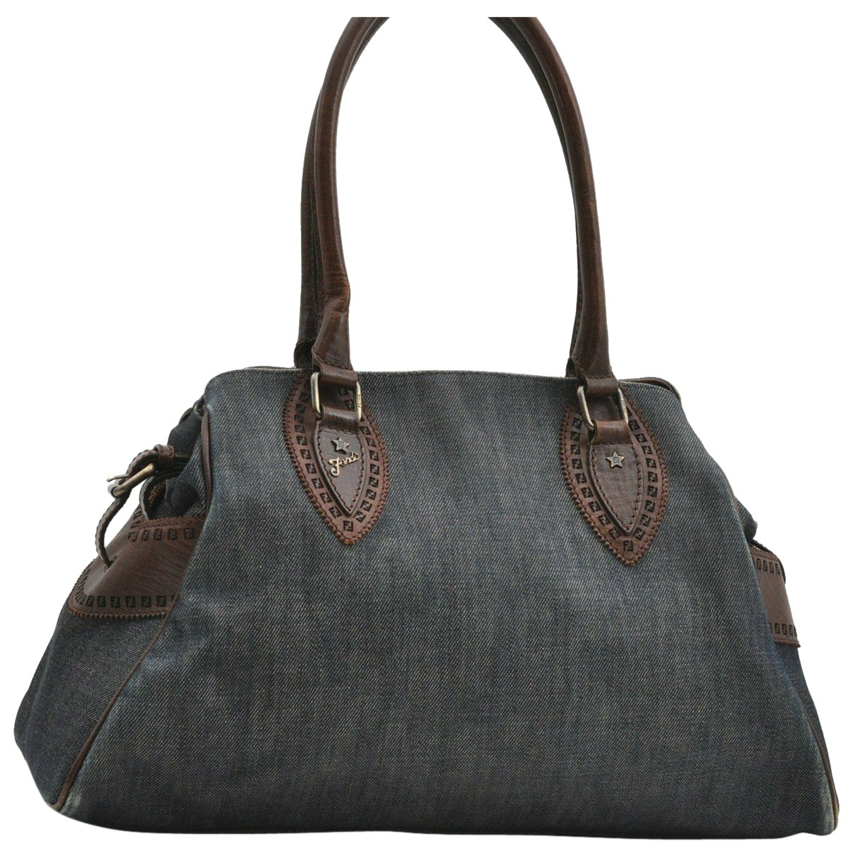 Fendi N Blue Denim - Jeans handbag for Women N