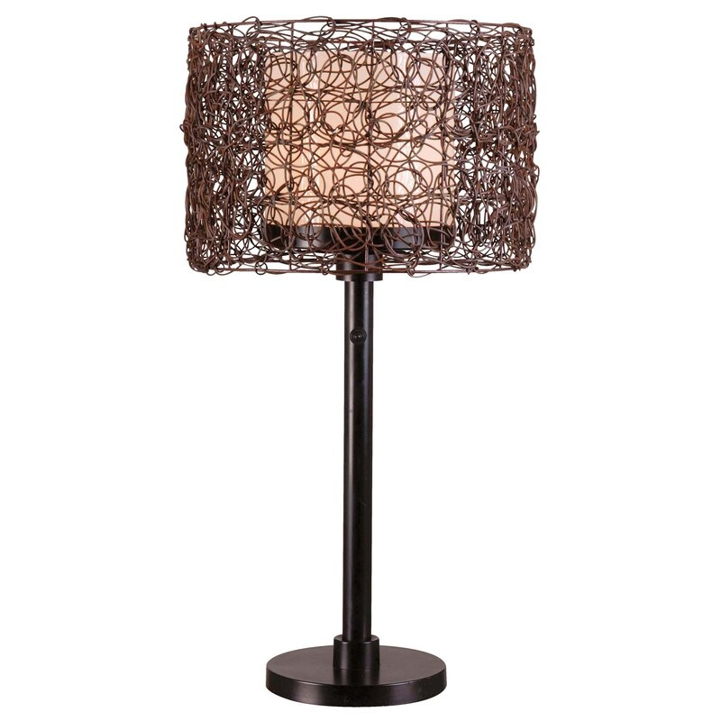 Carbon Loft Adams Indoor/ Outdoor Table Lamp (Bronze)