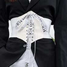 Cinturon con cordon con letra