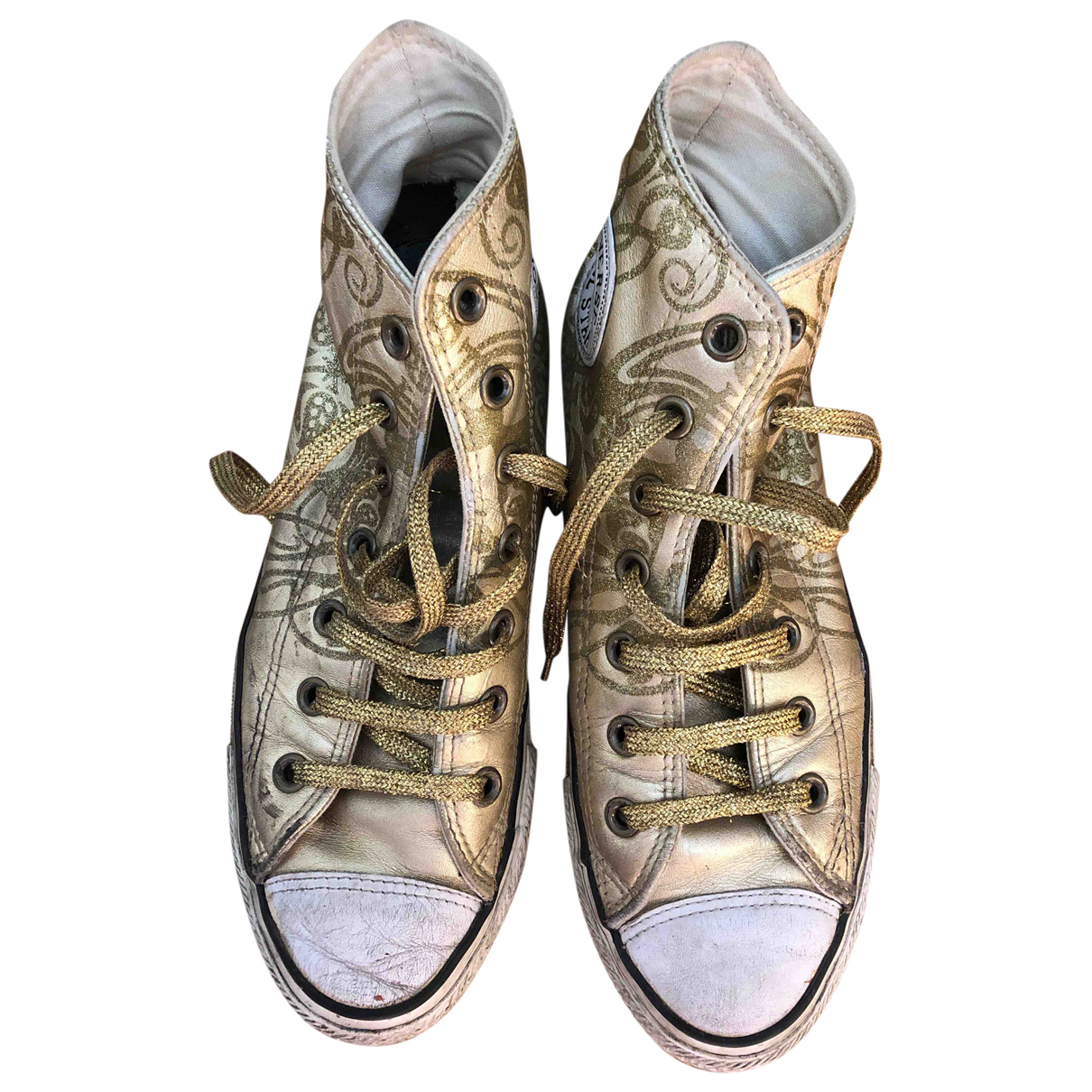 Converse \N Gold Leather Trainers for Women 38 EU