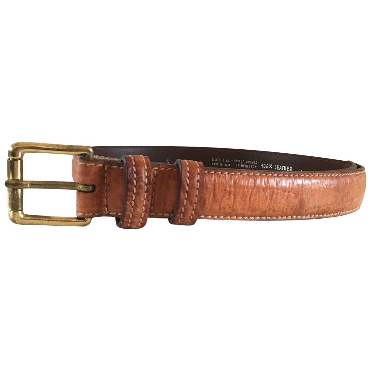 Non Signé / Unsigned \N Brown Leather belt for Women S International