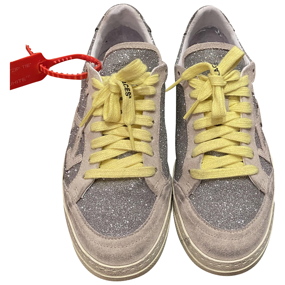 Off-white Arrow Sneakers in  Silber Leder