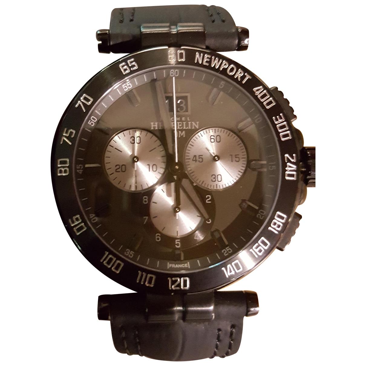 Michel Herbelin \N Anthracite Ceramic watch for Men \N
