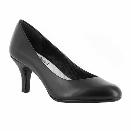 Easy Street Womens Passion Pumps Spike Heel, 6 Wide, Black