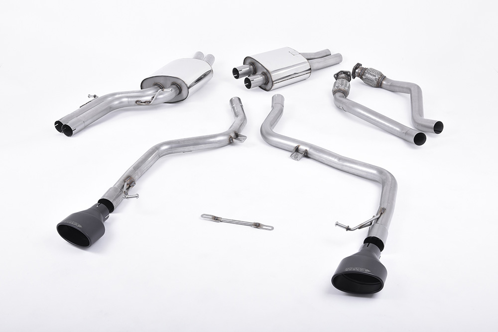 Milltek SSXAU264 Catback Exhaust System Audi S5 Coupe and Cabriolet 3.0TFSI Quattro S tronic B8 09-11