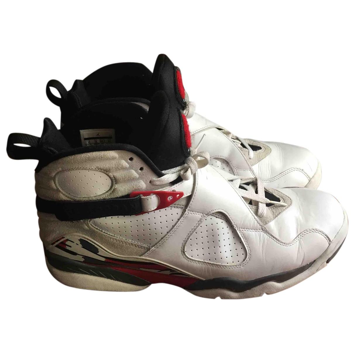 Jordan Air Jordan 8 Sneakers in  Weiss Leder