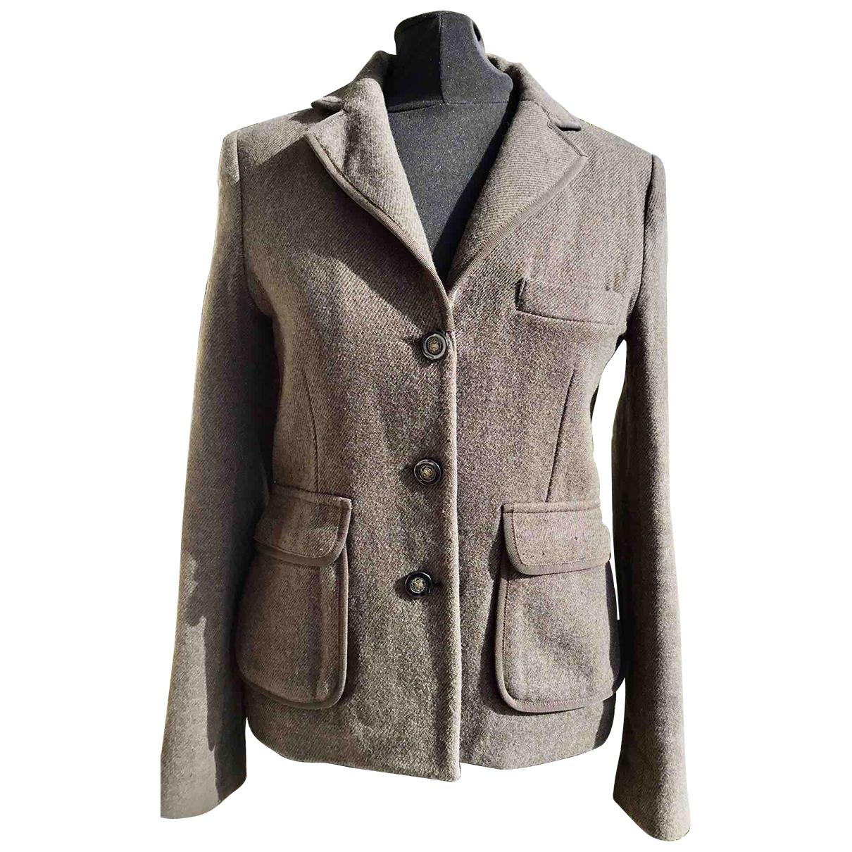 Claudie Pierlot \N Brown Wool jacket for Women 2 0-5