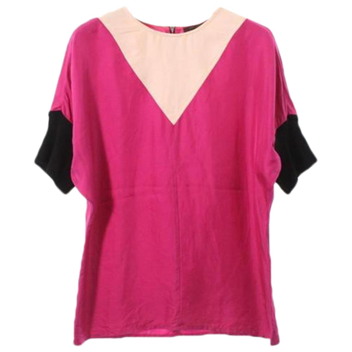 Louis Vuitton - Top   pour femme en soie - rose