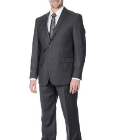 West End Mens Young Look Slim Fit 2 button Grey Suit