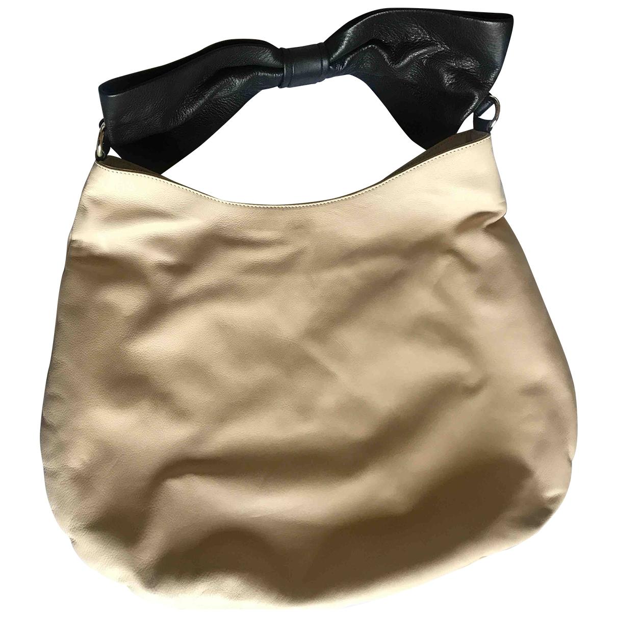 Red Valentino Garavani \N Ecru Leather handbag for Women \N